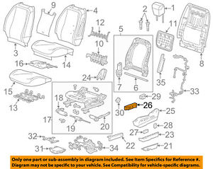 Gm Oem Power Seat Switch 25974714