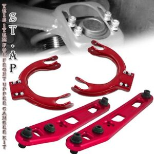 88 91 Civic Integra Ef Ej Jdm Rear Lower Control Arm Front Upper Camber Kit Red