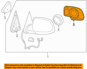 Gm Oem Outside Mirrors front Door mirror Glass Right 88986363