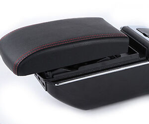 High Quality Black Centre Console Armrest Storage Box Fit For Nissan March 11 14