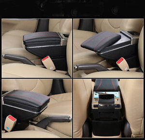 New Armrest Centre Console Storage Box Black Fit For Ford Focus 2009 11