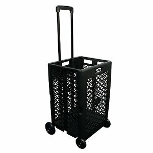 Pack n roll Mesh Rolling Cart Portable Shopping Basket Storage Folding Grocery