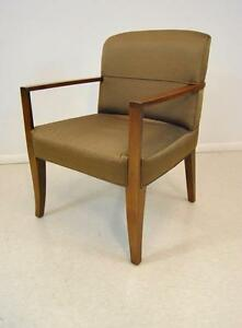 Baker Furniture Side Chair By Bill Sofield Bronze Fabric