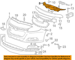 Chevrolet Gm Oem 13 15 Malibu Front Bumper Grille Grill upper Support 23232813