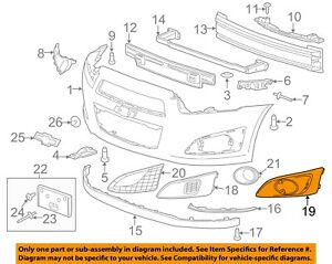 Chevrolet Gm Oem 12 16 Sonic Front Bumper Grille Trim Cover Right 95231071
