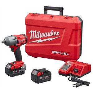Milwaukee 2861 22 M18 Fuel 1 2 Dr Mid Torque Impact Wrench Kit W 2 5 0 Battery