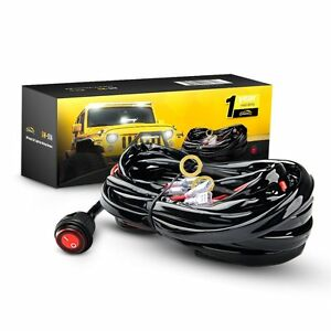 Gooacc Off Road Led Light Bar Wiring Harness Kit 12v On Off Waterproof Switch