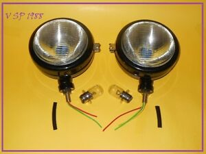 Ford Tractor Head Light Set lh Rh 12 V Black