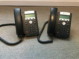 Two Polycom Soundpoint Ip 335 Ip Phones No Power Supplies