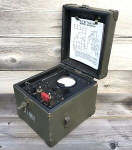 Rare Vintage Military Multimeter O B Mcclintock Co Model Ts 26