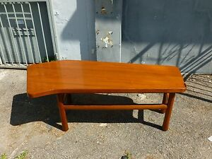 Mid Century Edward Wormley Dunbar Angled Form Mahogany Coffee Table