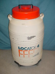 2 Thermo Locator 4 Cryogenic Liquid Nitrogen Dewar Semen Tank Thermolyne