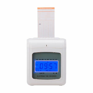 New Payroll Attendance Time Clock Punch Machine W 50 Cards