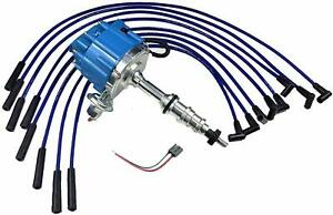 Ford Fe 332 352 360 390 406 427 428 Blue Hei Distributor 8mm Spark Plug Wires