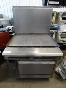 Garland Gas Range With 36 Griddle Flat Top And Base Oven