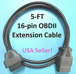 Obd2 Extension Cable For Matco Tools Md60 Md75 Md80 Md85 Md1042 Md1052 Md1072