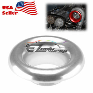 4 Silver Short Ram Cold Air Intake Turbo Horn Aluminum Velocity Stack Adapter