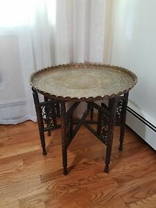 Antique Indian Bronze Table