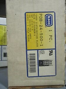 Ilsco Pdb 24 500 1 1 Pole Power Distribution Block 760 Amp 600 Volt New