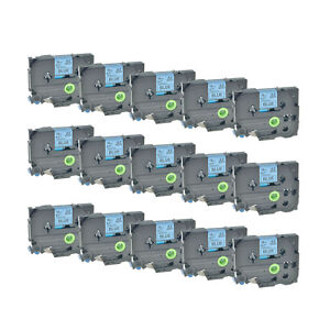 15pk Black On Blue Label Tape For Brother Tz 541 Tze 541 P touch Pt 1400 18mm 8m
