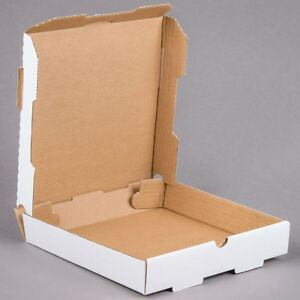 50 pack 10 X 10 X 1 3 4 White Corrugated Plain Pizza Bakery Box