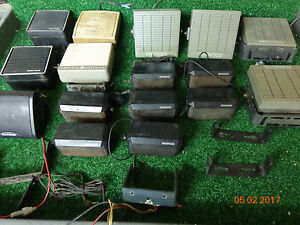 Motorola Kenwood Ge Mobile Vhf Uhf Radio External Speakers Mixed Lot Of 16 c9