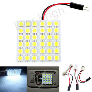 4pcs White 36smd 5050 Led T10 Ba9s Festoon Dome Interior Reading Panel Light 12v