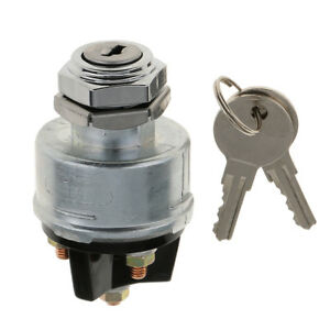 Universal 3 Position 12v Ignition Cylinder Switch Momentary Start 2 Key