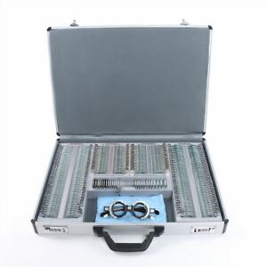 Pcs Optical Trial Lens Set 266 1pc Trial Frame aluminium Case Metal Rim L