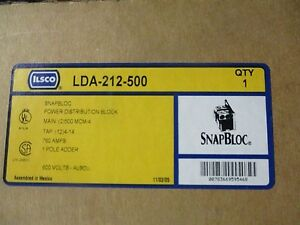 Ilsco Lda 212 500 760 Amp 600 Volt 1 Pole Power Distribution Block New