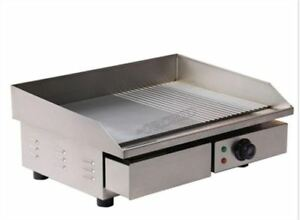 Stainless Steel 3kw 55cm Electric Griddle Grill Hot Plate Commercial Bbq Gril Ko