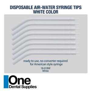 Dental Disposable Air water Syringe Tips White Color 250 Pcs