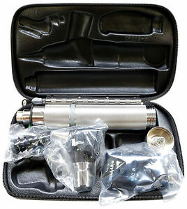 Welch Allyn Diagnostic Set Complete With Otoscope Opthalmoscope Handle Case
