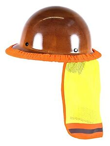 Hi Vis Hard Hat Neck Shield Sun Shade Helmet Reflective Stripe