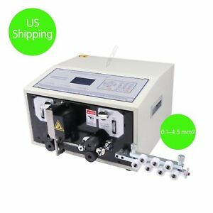 Automatic Computer Wire Peeling Striping Cutting Machine 0 1 4 5 Mm2 Brand Ne Vz