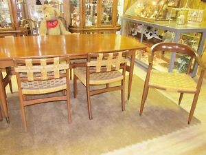 True Mid Century Modern Dining Room Set Table W 6 Chairs And Buffet Circa 1957