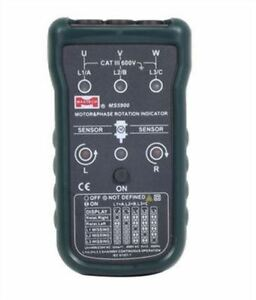 Ms5900 3 Motor Phase Rotation Indicator Meter Sequence Tester Led Fit Fa