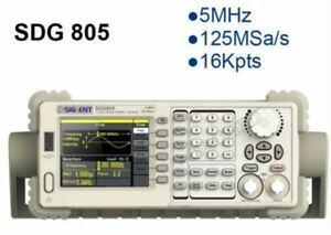 Siglent Sdg805 Dds Function Signal Arbitrary Waveform Generator New 5mhz