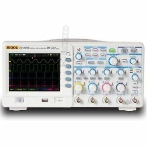 New Rigol Digital Color Oscilloscope Ds1104b 100mhz 4chs