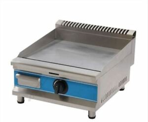 Stainless Steel Commercial Counter Top Lpg Gas Griddle Gas Hot Plat New Wb
