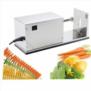 Stainless Steel Potato Spiral Cutting Machine Twist Potato Electronical Es