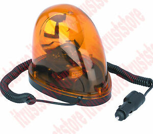 12v Auto Emergency Warning Amber Flash Revolving Alert Light Magnetic Base