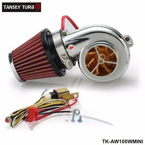 Turbo Kit Mini Electric Supercharger Air Filter Intake For All Racing Car
