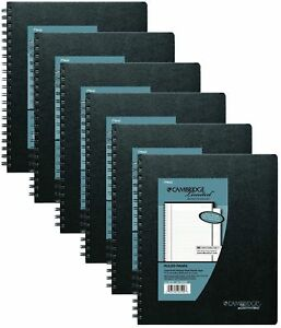 Mead Cambridge Business Notebook With Pocket Hardbound 8 5 X 11 Inches Black