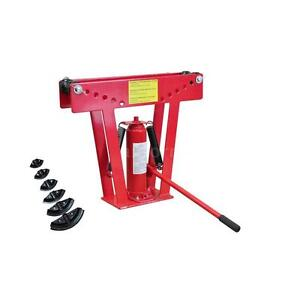12 Ton Hydraulic Tube Rod Pipe Bender With 6 Dies S9r3