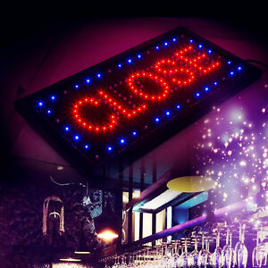 Animated Motion Led Business 2 in 1 Open Close Sign Onoff Switch Light Neon
