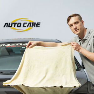 Autocare 45x75cm Natural Leather Chamois Car Drying Clean Towel Absorbent Cloth