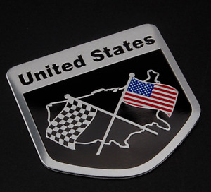 3d Aluminum American Flag Emblem Sticker Decal For Car Auto Truck 2 X2 Usa