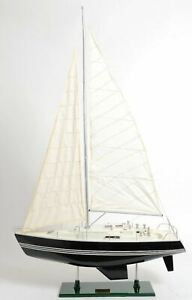 Victory Yacht Sailboat 29 Built Painted Wooden Model Ship Assembled