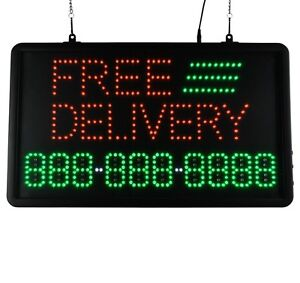 Led Sign Ultra Bright Free Delivery Large Display Neon 22 X 13 With Number